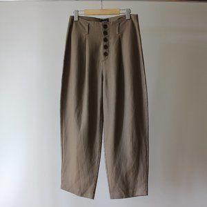 Frank & Oak Brown Linen Trouser Size 6